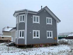 Каркасный дом 8х9,5 Вертикаль 4