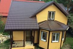 Каркасный дом 8х9 деревня Васкелово 1