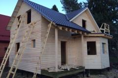 Каркасный дом 8х9 деревня Васкелово 6