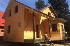 Каркасный дом 8х9 деревня Васкелово 7