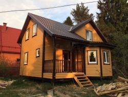 Каркасный дом 8х9 деревня Васкелово 2