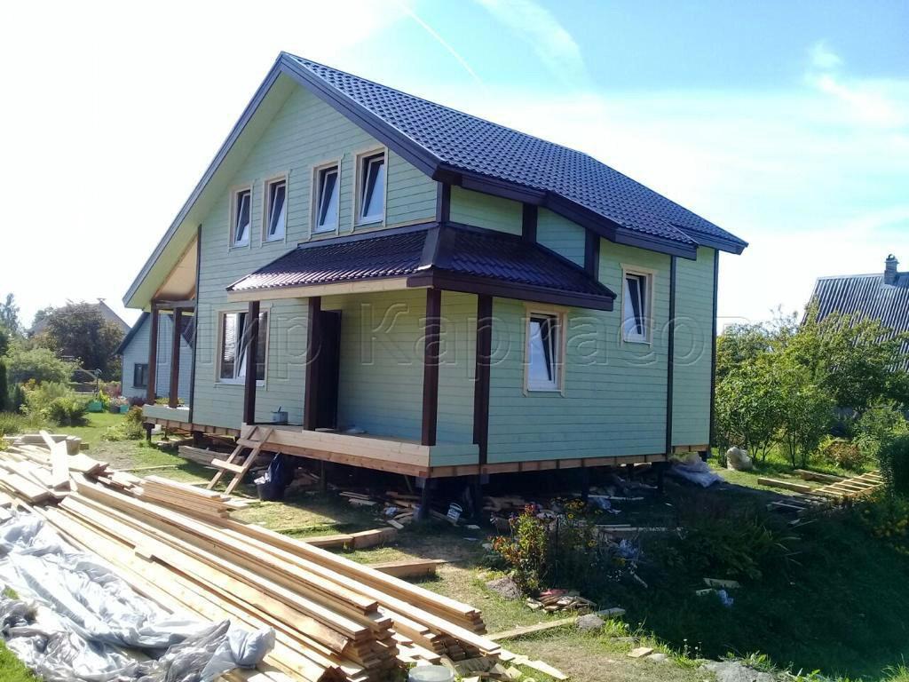Каркасный дом 9х11,5 Псковская область 3