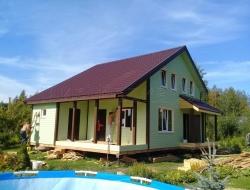 Каркасный дом 9х11,5 Псковская область 1