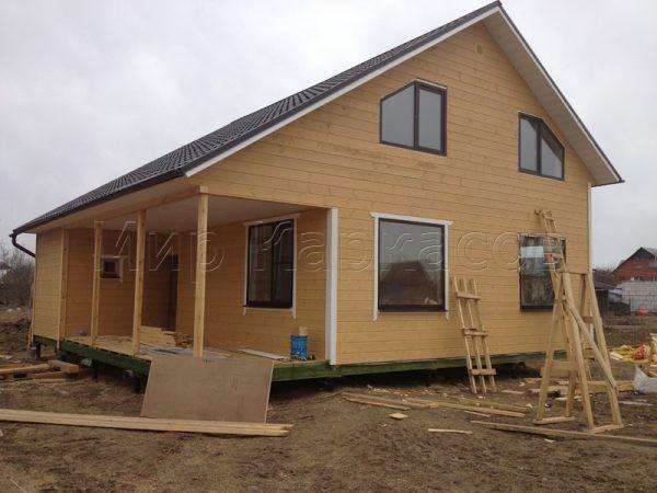 Двухэтажный каркасный дом 10 на 10