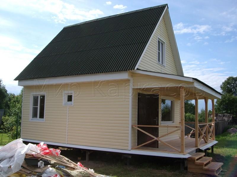 Каркасный дом 6х6 деревня Красные Горы