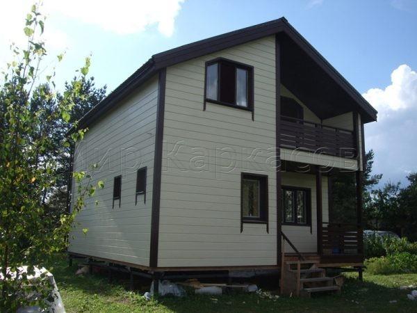 Каркасный дом 7х8,5 деревня Модолицы