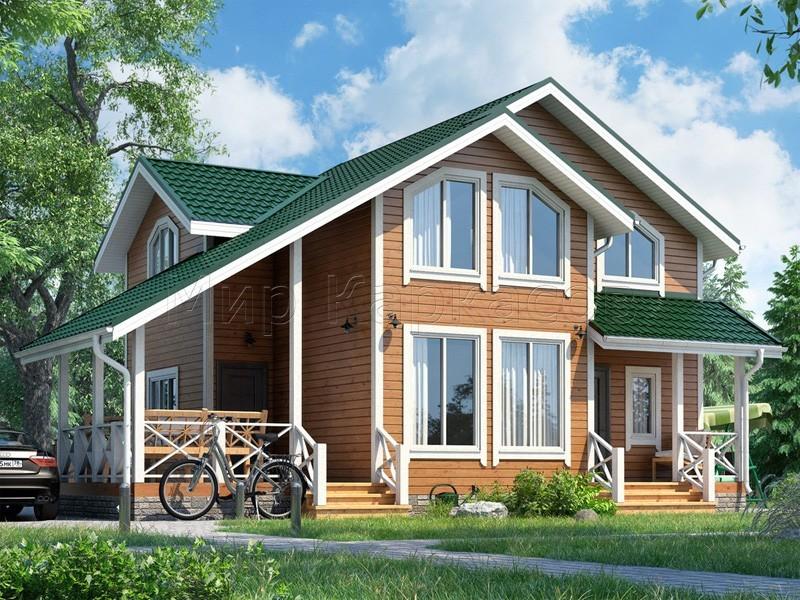 Проект полутораэтажного дома