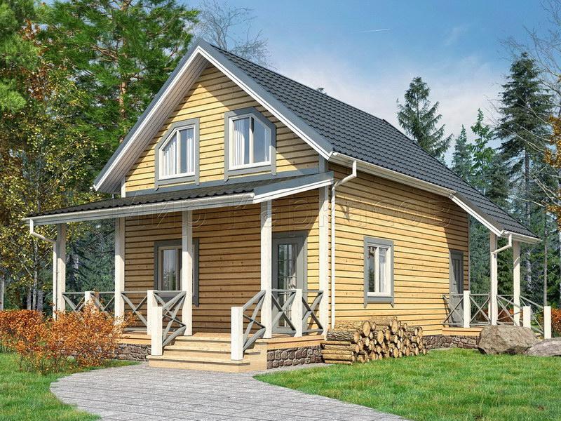 Каркасный дом 6Х8 «БУДАПЕШТ»