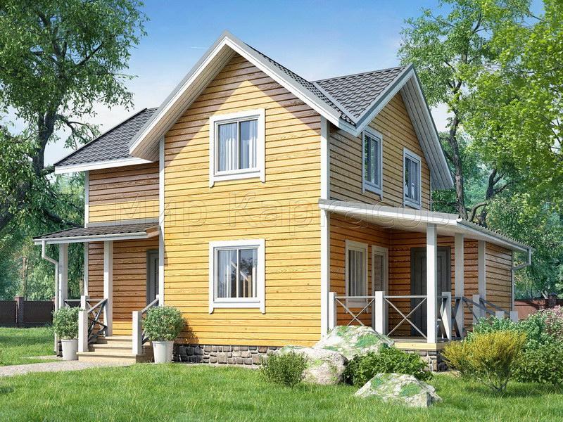 Каркасный дом «ДУБЛИН» 7Х10