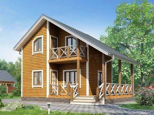 Каркасный дом 6Х8 «ФРАНКФУРТ»