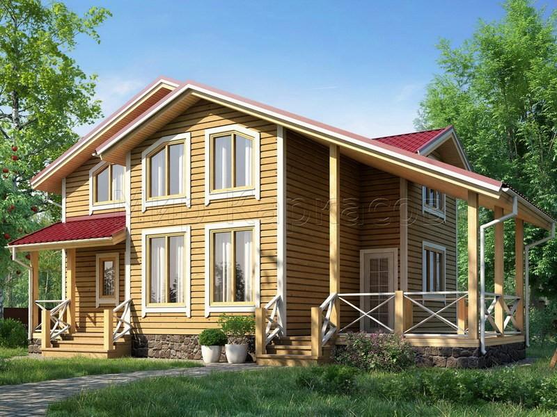 Каркасный дом 8,5Х9 «МИЛАН»