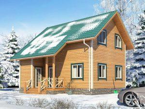 Каркасный дом для зимнего проживания