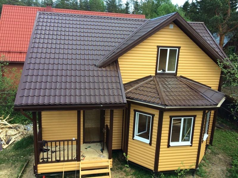 Каркасный дом 8х9 деревня Васкелово