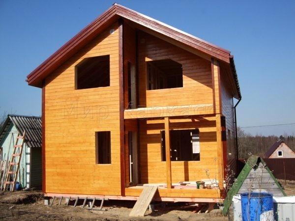 Каркасный дом без отделки
