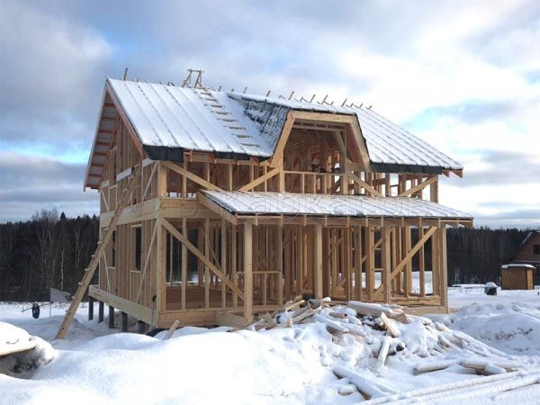 Строительство каркаса каркасного дома