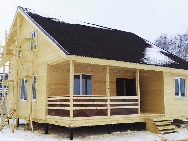 Каркасный дом 9х9,5 деревня Большое Лупаково
