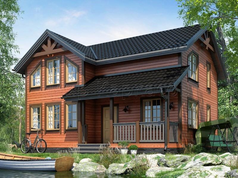 Проект каркасного дома с 4 спальнями