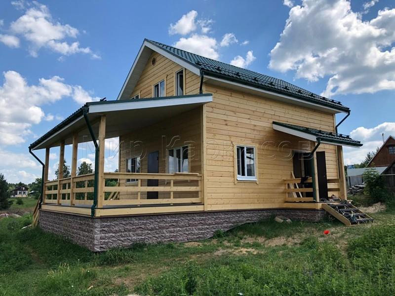 Каркасный дом 6х8 деревня Лесная Слобода