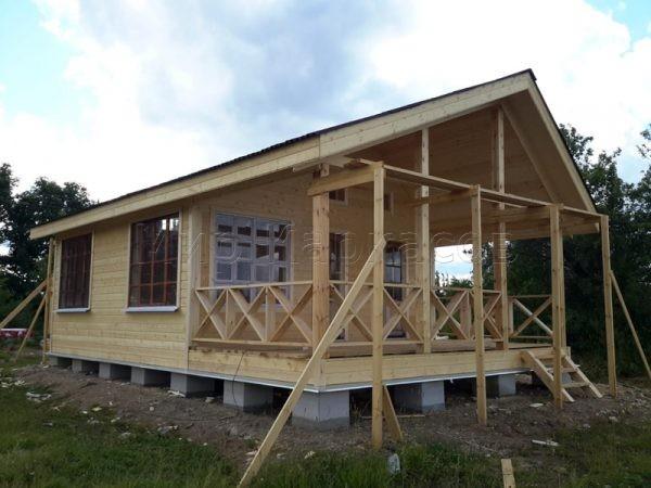 Каркасный дом 6х9 деревня Дьяконовска