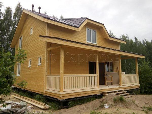 Каркасный дом 9х12,5 массив Соржа