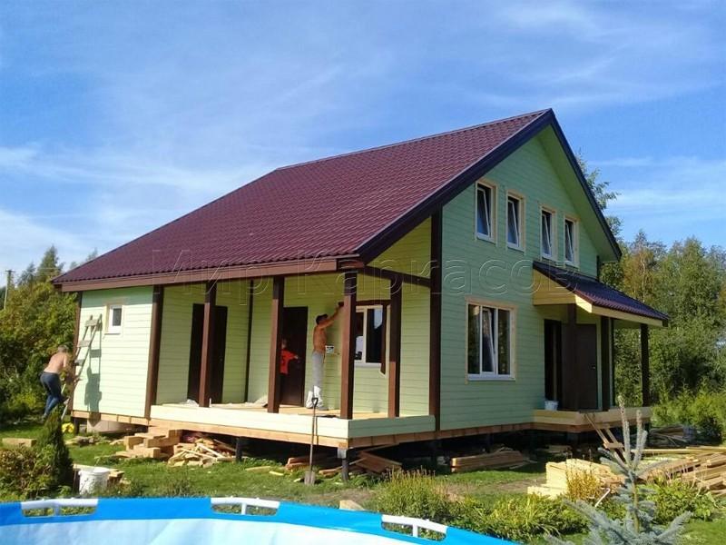 Каркасный дом 9х11,5 СНТ Бодрость