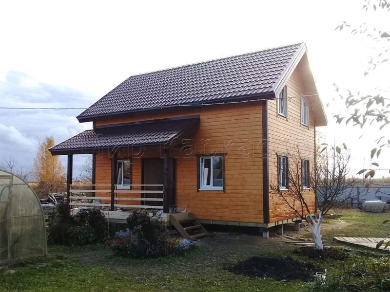 Каркасный дом 7,5х8 СНТ Славянка