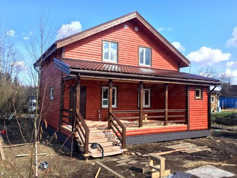 Каркасный дом 8,5х9,5 поселок Михайловский