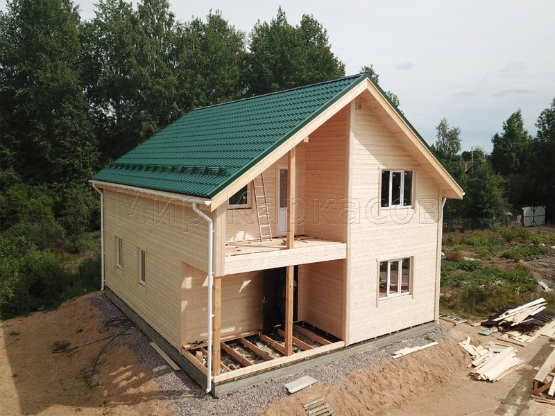 Каркасный дом 8х10 деревня Борисово