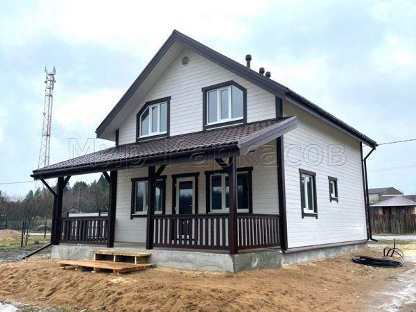Каркасный дом 7х8 поселок Мельниково